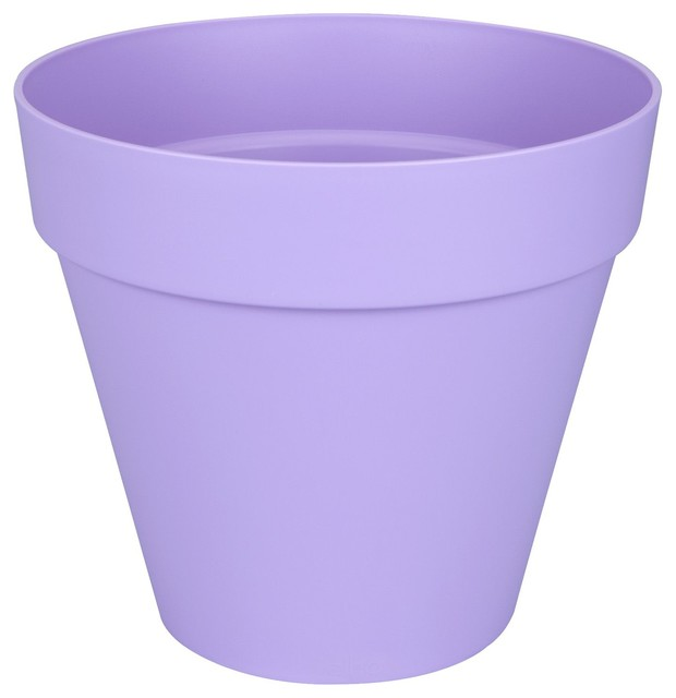 poft cache pot d50cm lavande en plastique elho contemporain pot et jardini re d 39 ext rieur