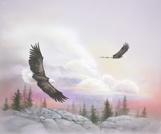 Soaring with eagles wall mural contemporary wallpaper for Eagle wall mural