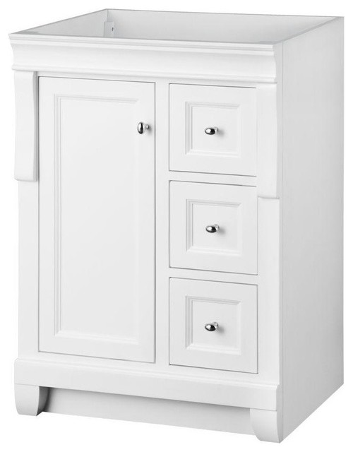 Naples vanity cabinet only white 24 39 39 wx21 39 39 d for Bathroom cabinets naples fl