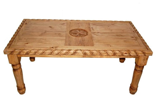 7' Rope Table With Texas Star Detail  Southwestern. Porcelain Drawer Knobs. Parts Drawer. Big Lots End Tables. Rustic Pool Table Lights. Hybrid Table Saw Reviews. Butchers Table. Desk Furniture. Sauder Shoal Creek 4 Drawer Chest Soft White