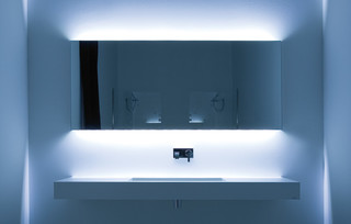 Innovative Miami 59quot Double Sink Modern Bathroom Vanity Set With Mirror By