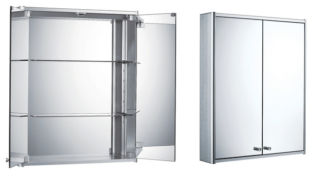 Double Two Sided Mirrored Door Medicine Cabinet - Modern - Medicine Cabinets - by Whitehaus ...