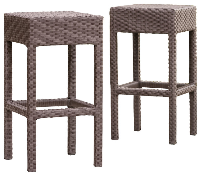 Rudolfo Outdoor Bar Stools Set Of 2 Contemporary