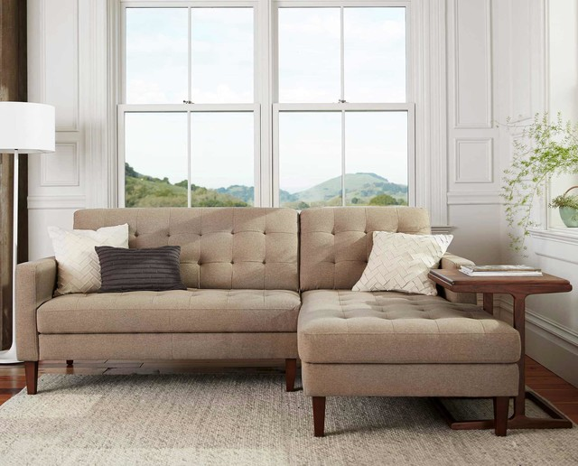 ... Chaise Sectional - Midcentury - Sectional Sofas - by Dania Furniture