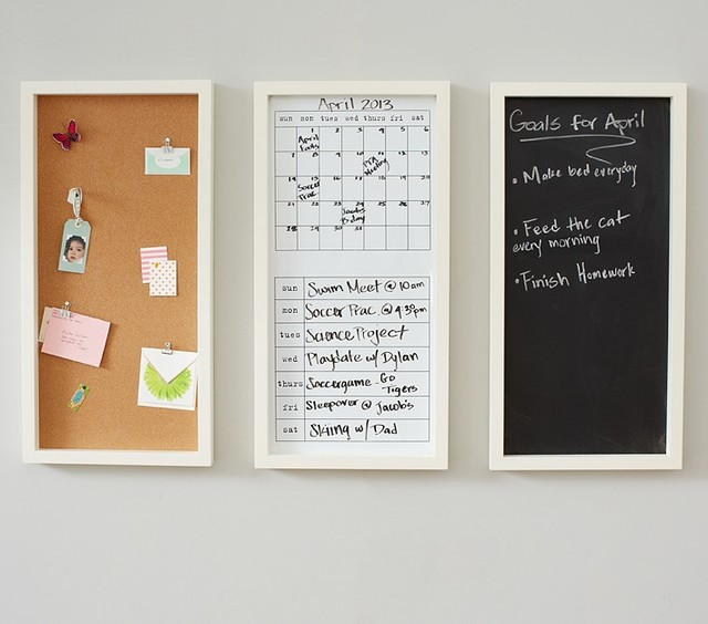 White Daily System Contemporary Bulletin Boards And