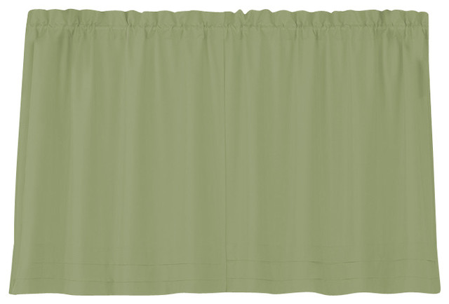 Holden Solid Sage Green Kitchen Curtain 36 Tier Traditional Curtains By Linens4less