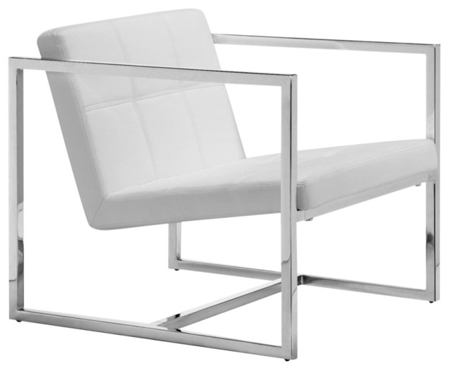 modern contemporary living room chair black leatherette