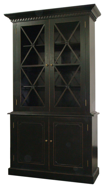 Black Pantry Storage Cabinet With Humprey Cabinet In Distressed Black Traditional Pantry With Corner Kitchen Pantry