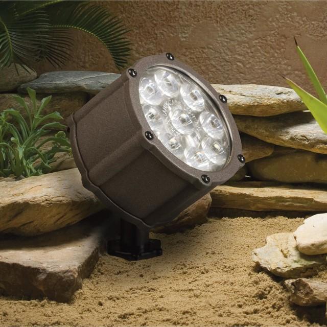 led 1 light 4 outdoor flood light in textured. Black Bedroom Furniture Sets. Home Design Ideas