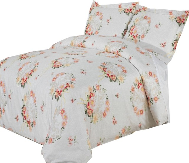Liza Multi Piece 100% Cotton Duvet Set King Cal King Farmhouse Duvet Cov