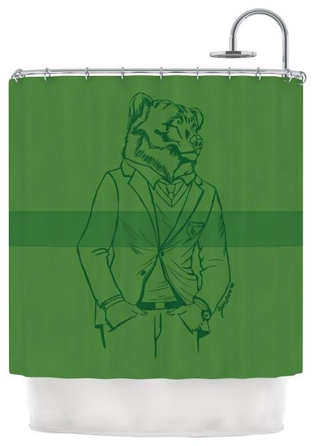 Geordanna cordero fields dapper bear green emerald for Emerald green bathroom accessories