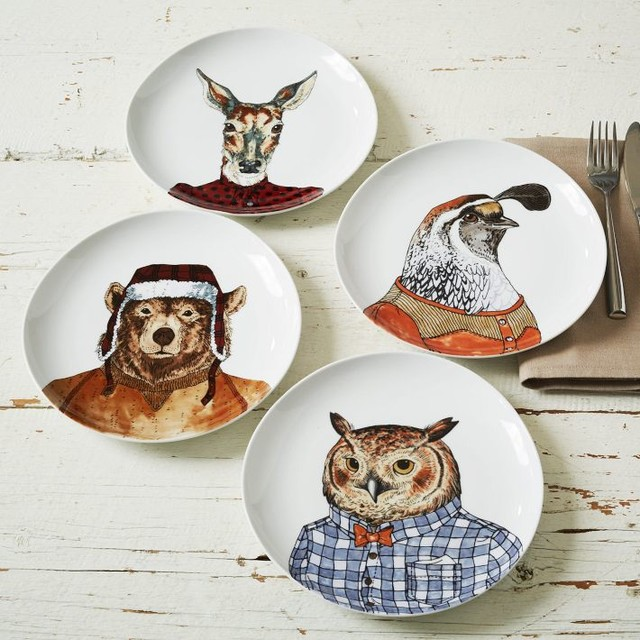 Dapper Animal Plates Eclectic Dinner Plates By West Elm