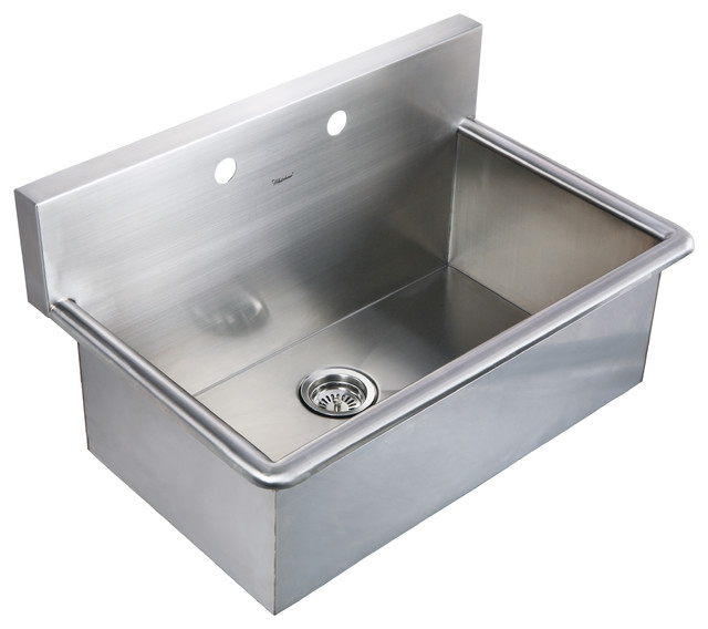Noah S Collection Brushed Stainless Steel Commercial Drop