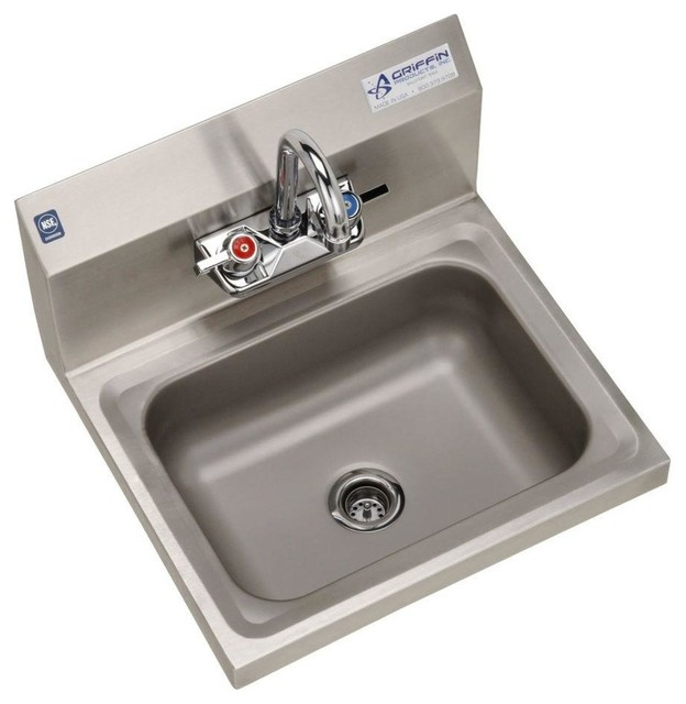 Stainless Steel Wall Mount Utility Sink : All Products / Housekeeping & Laundry / Utility Sinks