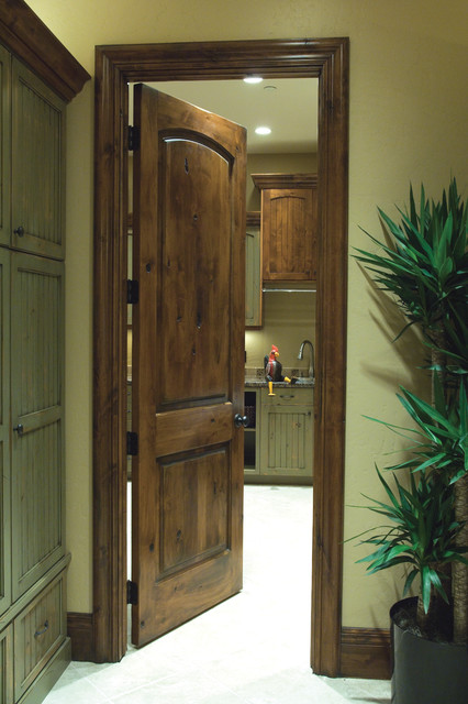 Knotty alder a natural look to your home for Natural wood front door