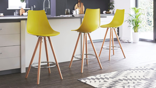 Mustard yellow eames style bar stool contemporary bar - Angolo bar a casa ...