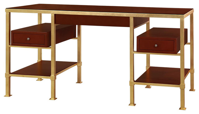 Bungalow 5 Marcel Desk In Gold Contemporary Desks And