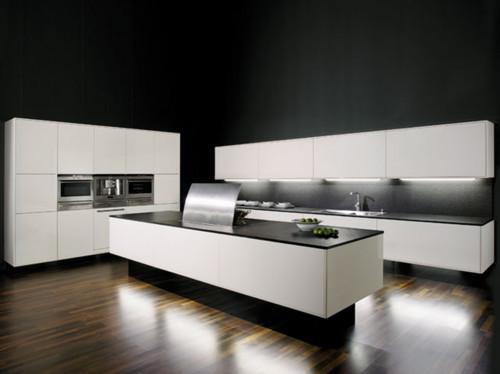 allmilmö Musterküche Modell Picco Filigrano Lack Hochglanz Weiß