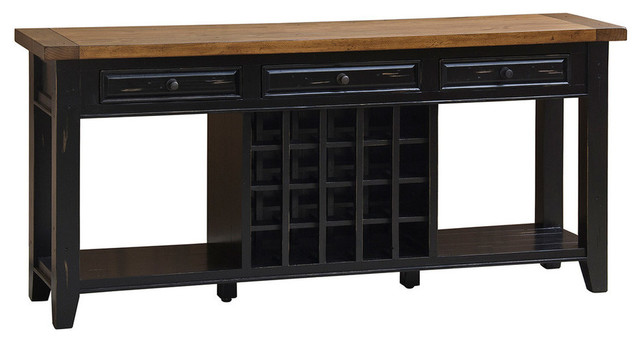 Tuscan Retreat Sideboard With 20 Bottle Wine Storage