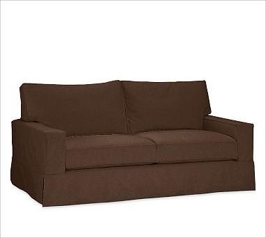 Traditional Sofa Throw Pillows : PB Comfort Square Slipcovered Sofa, Box Cushion, Polyester Wrap Cushions, Brushe - Traditional ...