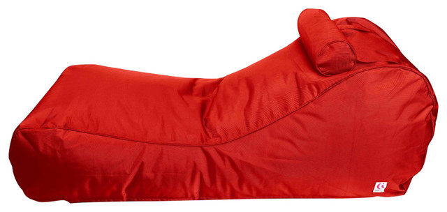 Indosoul lounge outdoor bean bag red modern outdoor for Bean bag chaise lounge
