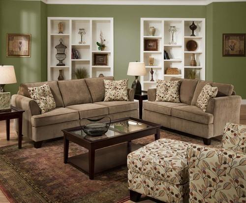 Sleeper sofa set 2052 fslco contemporary living room furniture sets