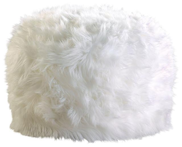 Fluffy Pouf Ottoman - Wholesale Fuzzy Faux Fur Footstool White Ottoman, Fuzzy White Ottoman ...