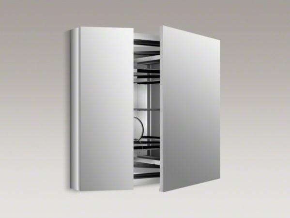 """KOHLER Verdera(TM) 34"""" W x 30"""" H aluminum medicine cabinet with adjustable magni - Contemporary ..."""