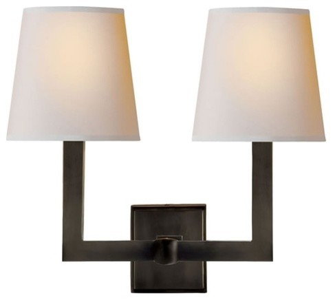 Led Wall Light Square : Studio Square Tube Double Light Sconce - Modern - Wall Sconces - philadelphia - by Copper ...