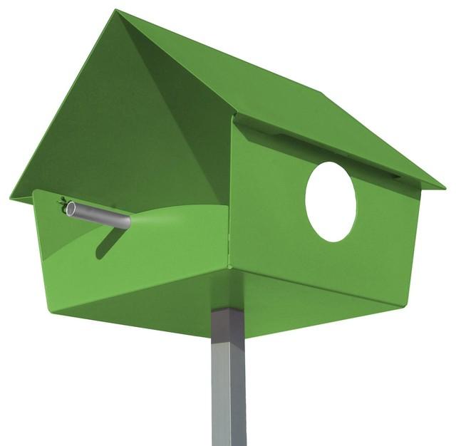 bauhaus vogelhaus schwedisches vogelhaus nistkasten. Black Bedroom Furniture Sets. Home Design Ideas