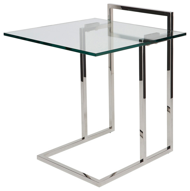 Enna Side Table By Nuevo Living Polished Stainless Steel