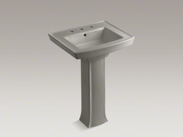 KOHLER Archer R Pedestal Bathroom Sink With 8 Widespread Faucet Holes