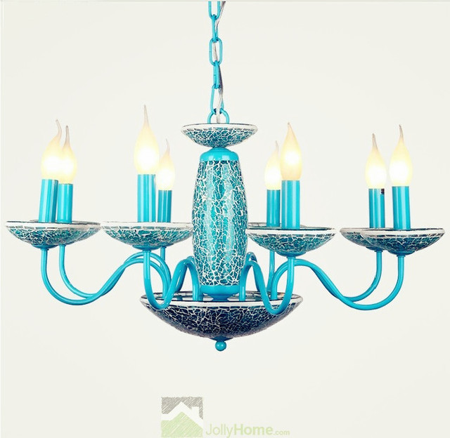 Modern blue wholesale pendant lighting fixtures for Mediterranean lighting fixtures