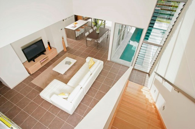 Civic steel residential home kawana qld contemporary for Outdoor furniture kawana