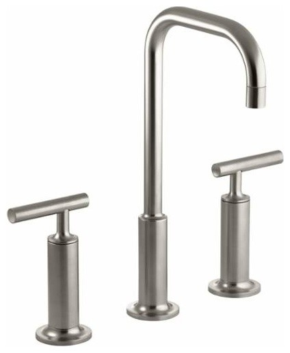 Kohler K-14408-4 Purist Widespread Bathroom Faucet - Modern - Kitchen ...