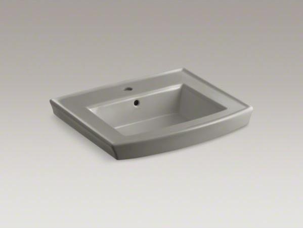 KOHLER Archer(R) pedestal bathroom sink with single faucet hole ...