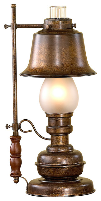 Candeia Table Lamp Lantern Style With Acid Glass Rustic Table Lamps Part 44