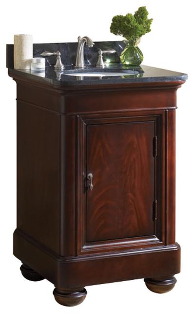 Mount Vernon 24 Vanity Merlot Tan Brown Granite Top Traditional B
