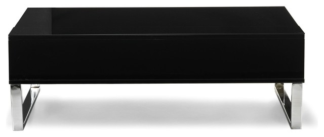 Novy table basse avec tablette relevable noire contemporain table basse - Table basse avec tablette relevable ...