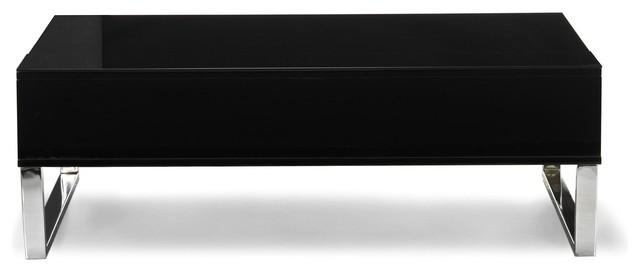 Novy table basse avec tablette relevable noire contemporary coffee tables - Petite table relevable ...
