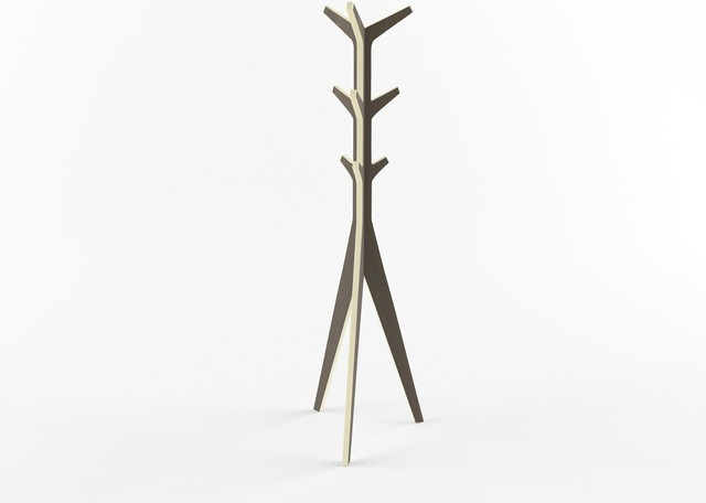 Minimal Layered Wood Coat Stand Modern Coatracks And