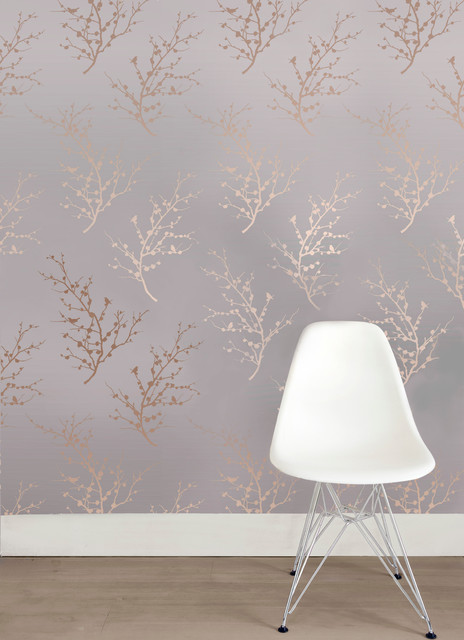 Edie self adhesive removable wallpaper contemporary for Metallic removable wallpaper