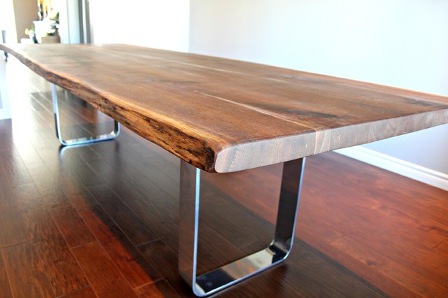 chrome table bases dining table 2