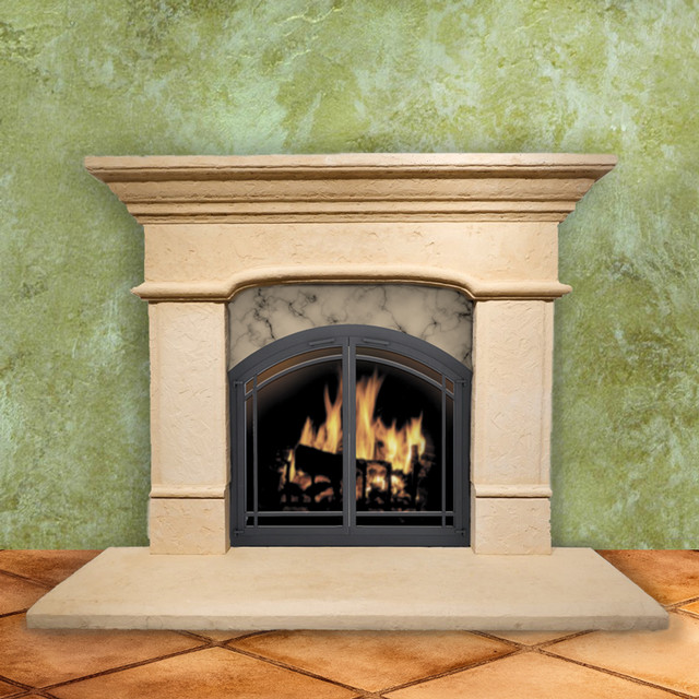 Tuscan Arched Pre Cast Stone Fireplace Mantel Traditional Fireplace Mantels By Fireplace