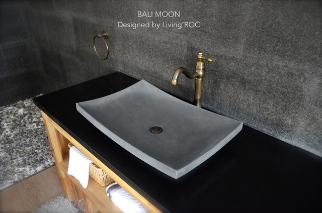 ... Stone Vessel Sink - BALI MOON - Modern - Bathroom Sinks - los angeles