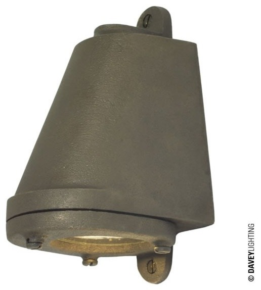 Mid Century Wall Lights Uk: Davey 0749 LED GU10 Mast Light Weathered Sandblasted
