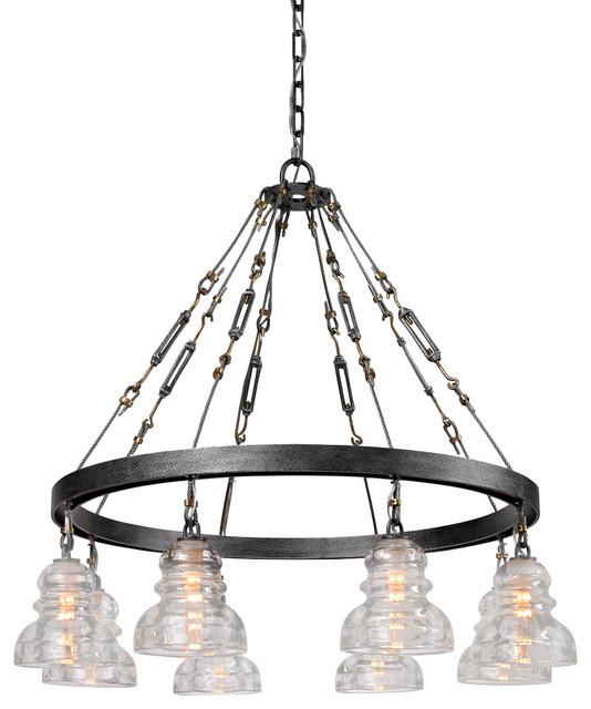 troy lighting f3136 menlo park single tier chandelier eclectic. Black Bedroom Furniture Sets. Home Design Ideas