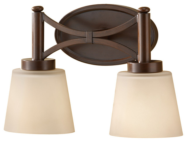 Vanity Light Bulb Strip : Murray Feiss VS18702-HTBZ Nolan 2 Bulb Heritage Bronze Vanity Strip - Transitional - Bathroom ...