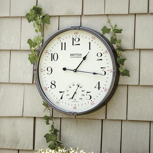 Wall Clock Ballard Design : Ballard designs britton indoor outdoor clock