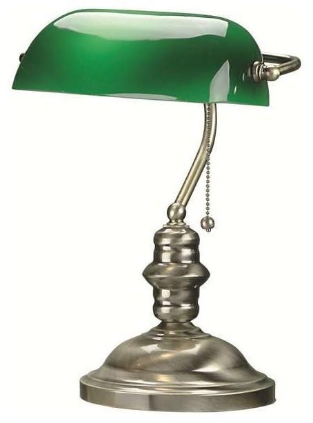 lite source banker desk lamp antique brass traditional. Black Bedroom Furniture Sets. Home Design Ideas